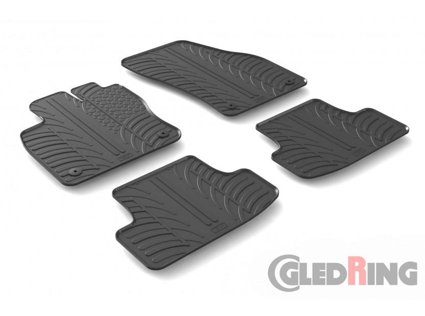 Гумени стелки Gledring за Audi Q2 след 2016 година 4 части черни 2