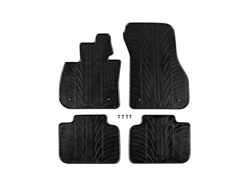 Гумени стелки Gledring за BMW X2 F39 след 02.2018 година 4 части черни