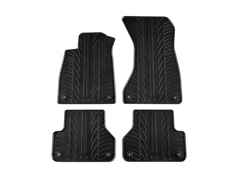 Гумени стелки Gledring за Audi A5 Sportback след 2016 година 4 части черни