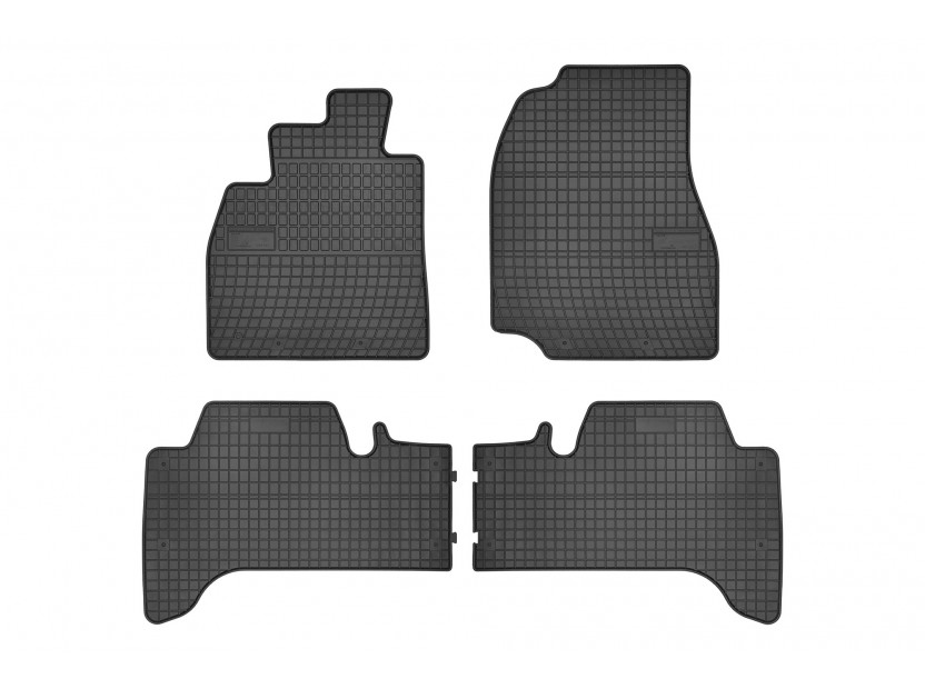 Гумени стелки Frogum съвместими с Toyota Land Cruiser FJ100 1998-2007, 4 части, черни
