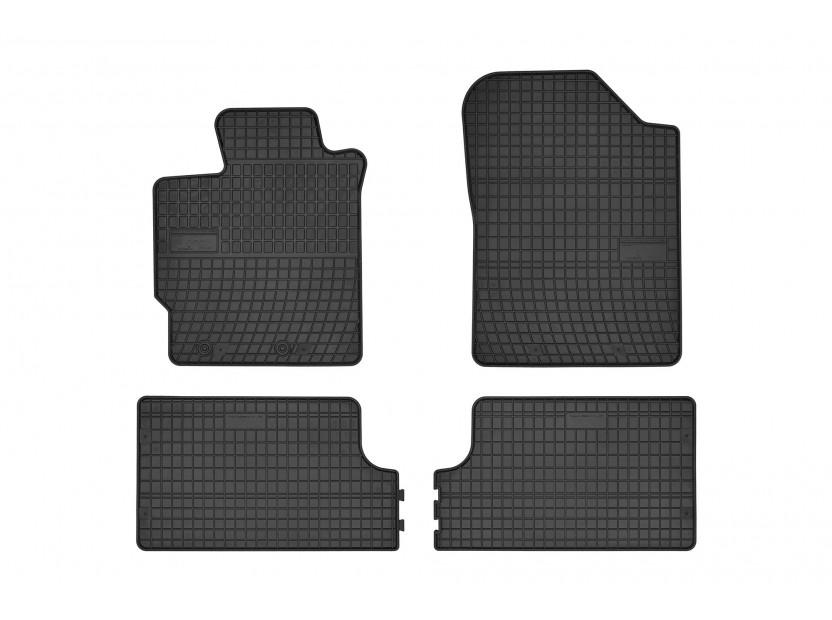 Гумени стелки Frogum съвместими с Toyota Yaris 2011-2019, 4 части, черни