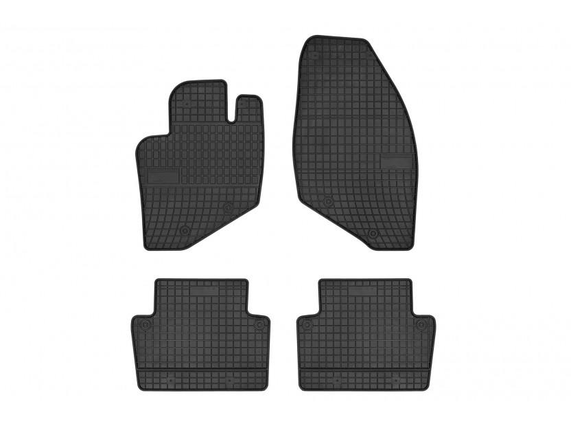 Гумени стелки Frogum съвместими с Volvo S60 2000-2009, S80 1998-2006, V70 2000-2006, 4 части, черни