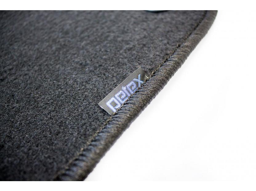 Мокетни стелки Petex съвместими с Renault Fluence след 2010 година, 4 части, черни, материя Rex, захват B142 2