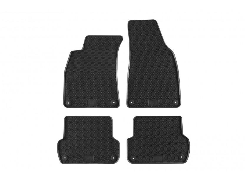 Гумени стелки Geyer & Hosaja за Audi A4 B6 сенда/avant/Allroad 2000-2004/A4 B7 седан/avant 2004-2008/Seat Exeo 2008-2013 4 части черни