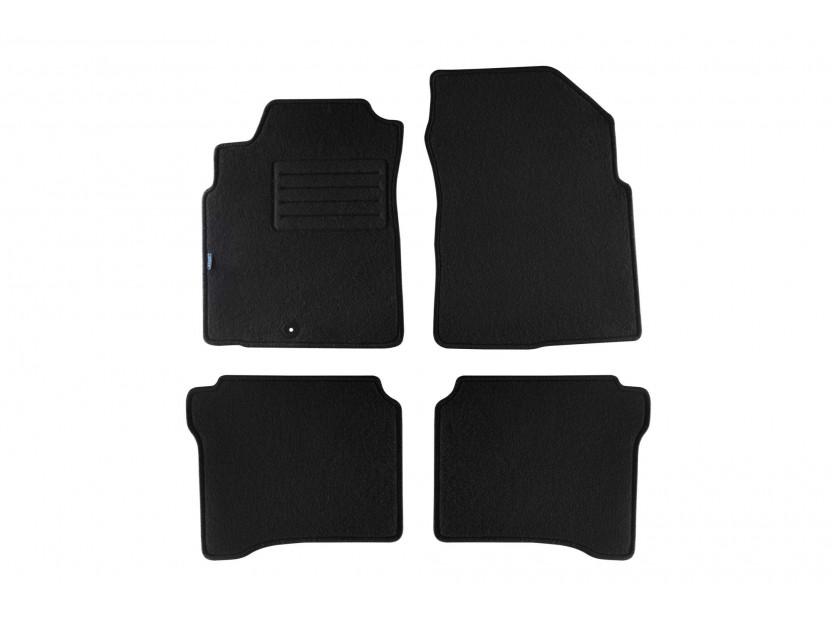 Мокетени стелки Petex за Nissan P12 hatchback/traveler 03/2002-2007 4 части черни (B011U) Rex материя
