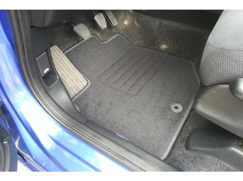 Мокетени стелки Petex за Honda Jazz 11/2008 => 4 части черни (B01E1U) Rex материя 2