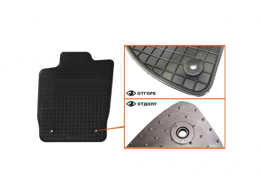 Гумени стелки Petex за Audi A1 2010 =>/Audi A1 Sportback 2011 => 4 части черни (B014) 2