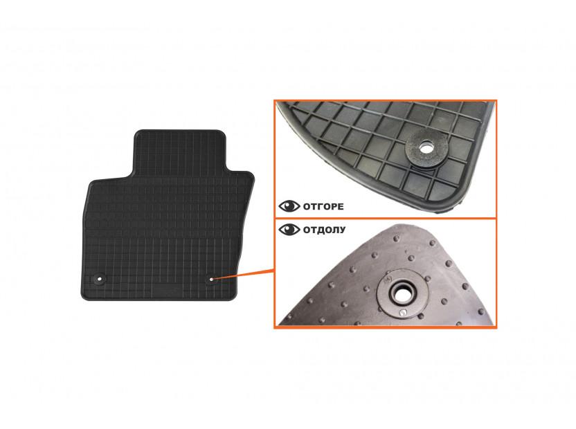 Гумени стелки Petex съвместими с Audi Q3 2011-2018, 4 части, черни, захват B014 2
