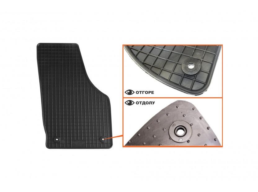 Гумени стелки Petex съвместими с Audi Q3 2011-2018, 4 части, черни, захват B014 3