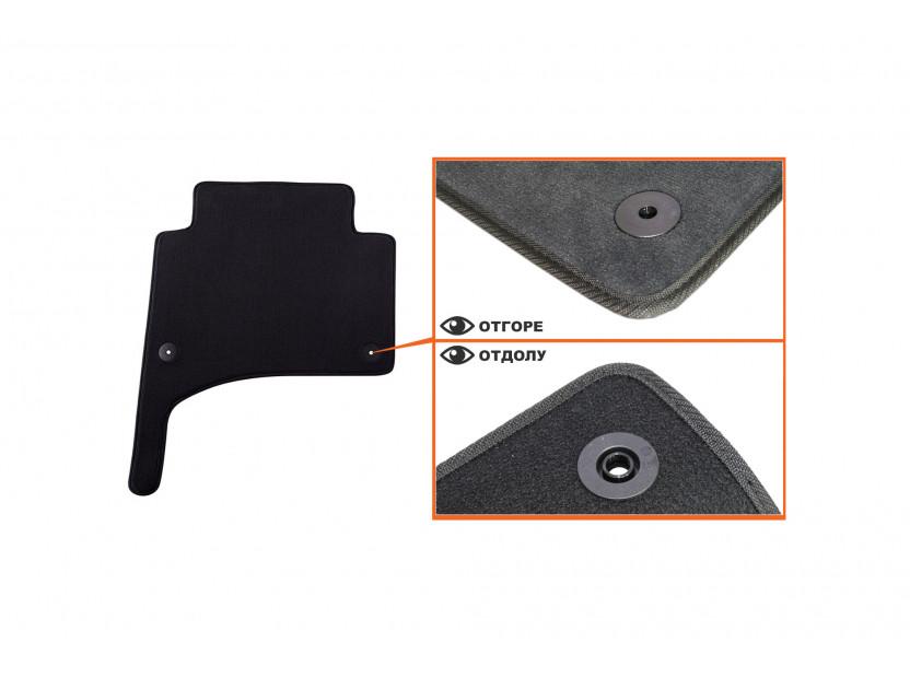 Мокетни стелки Petex съвместими с Porsche Cayenne 2002-2010, 4 части, черни, материя Style, захват B01E8 4