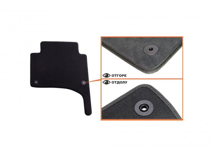Мокетни стелки Petex съвместими с Porsche Cayenne 2002-2010, 4 части, черни, материя Style, захват B01E8 5