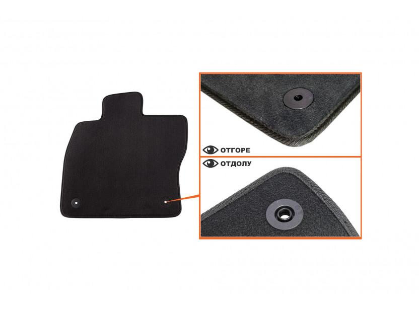 Мокетени стелки Petex за Audi A3 3 врати 09/2012 => 4 части черни (B014) Style материя 2