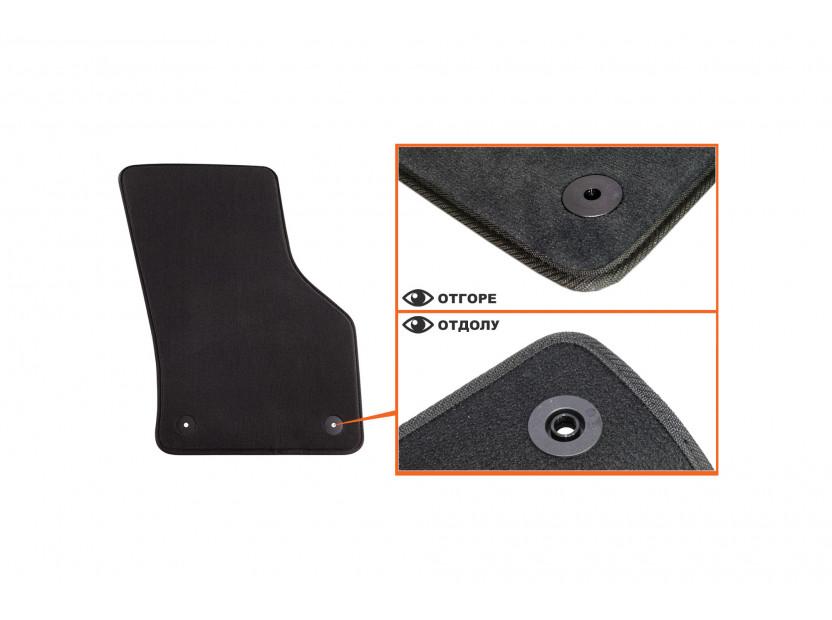 Мокетени стелки Petex за Audi A3 3 врати 09/2012 => 4 части черни (B014) Style материя 3
