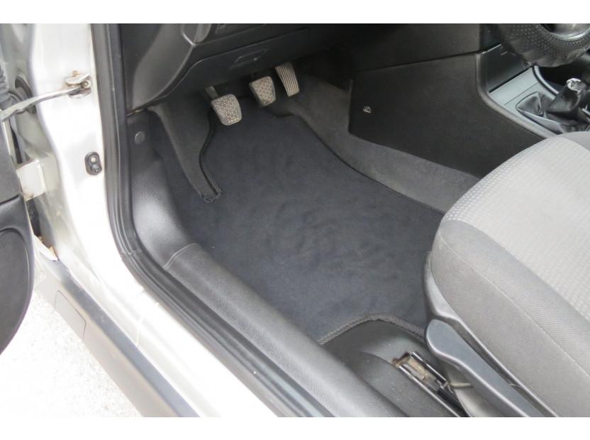 Мокетни стелки Petex съвместими с Opel Astra G 1998-2004, купе 2000-2001, 4 части, черни, материя Style, захват KL01 2