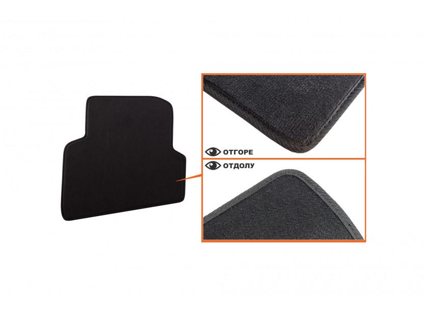 Мокетни стелки Petex съвместими с Skoda Fabia 2007-2014, 4 части, черни, материя Style, захват B01A4 4