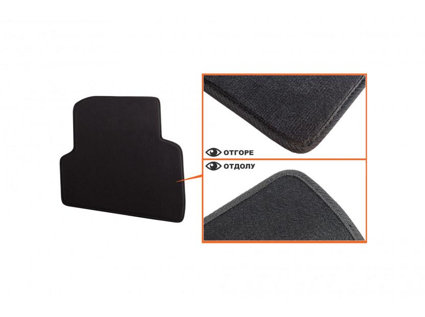 Мокетни стелки Petex съвместими с Skoda Fabia 2007-2014, 4 части, черни, материя Style, захват B01A4 5