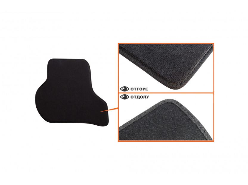 Мокетни стелки Petex съвместими с Skoda Octavia седан, комби 2008-2013, 4 части, черни, материя Style, захват B01A4 5