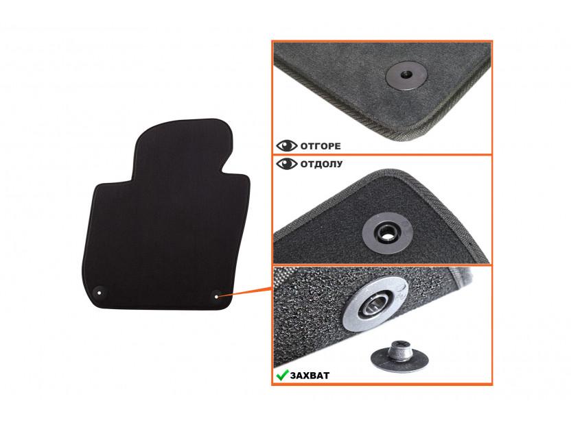 Мокетени стелки Petex за Skoda Superb Седан 07/2008 =>/Комби 01/2010 => 4 части черни (B01A8U) Style материя 2