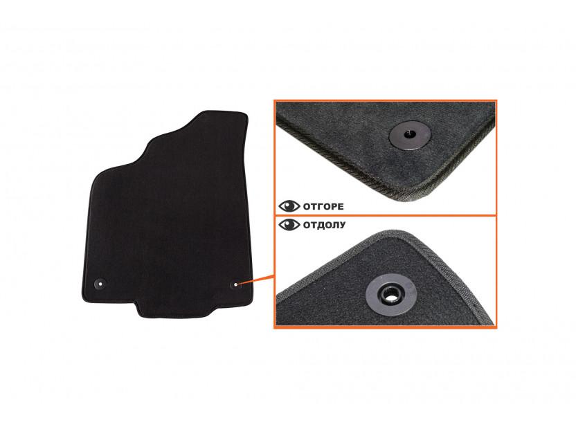 Мокетни стелки Petex съвместими с VW Polo 2000-2001, 4 части, черни, материя Style, захват B014 2