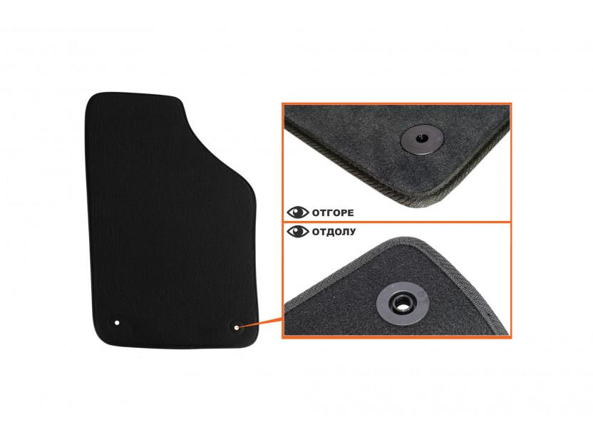 Мокетни стелки Petex съвместими със Seat Ibiza, Cordoba 2002-2008, 4 части, черни, материя Style, захват B014 3