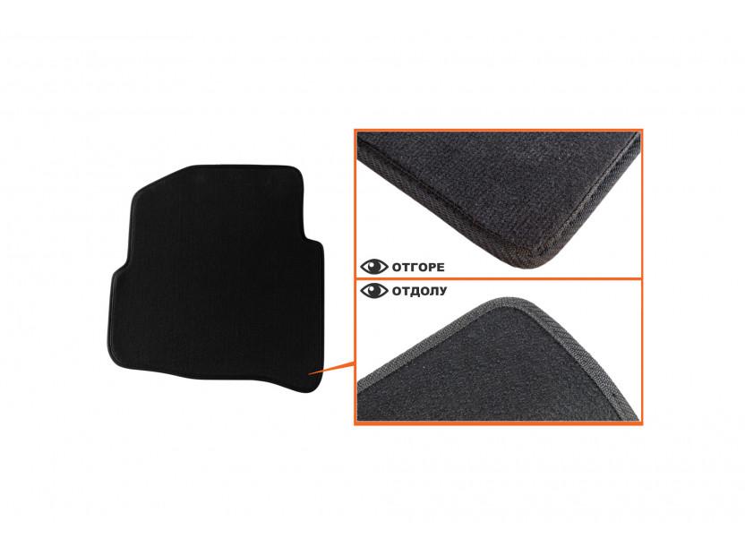 Мокетни стелки Petex съвместими със Seat Ibiza, Cordoba 2002-2008, 4 части, черни, материя Style, захват B014 4