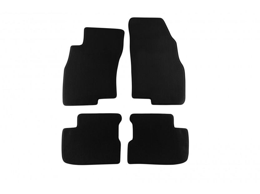 Мокетни стелки Petex за Fiat Grande Punto 2005-2012, 4 части, черни, материя Style, захват KL01