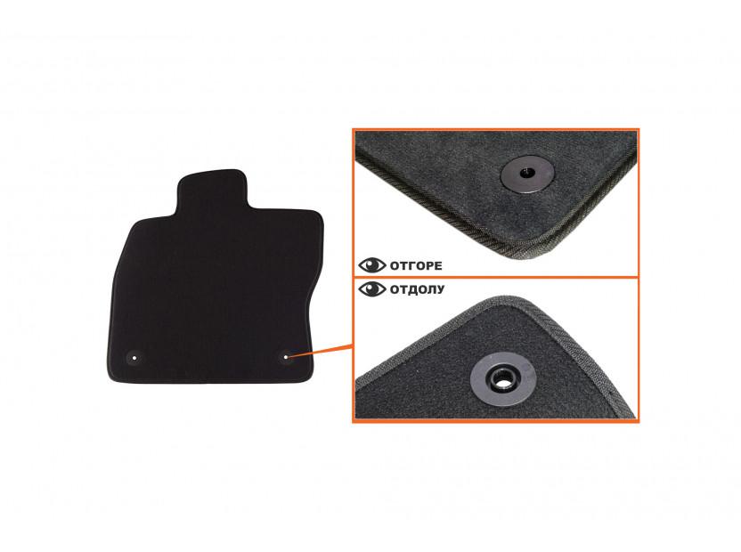 Мокетни стелки Petex съвместими с Skoda Octavia седан, комби 2013-2020, 4 части, черни, материя Style, захват B01A4 2