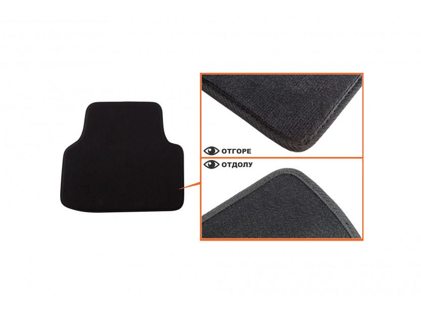 Мокетни стелки Petex съвместими с Skoda Octavia седан, комби 2013-2020, 4 части, черни, материя Style, захват B01A4 4