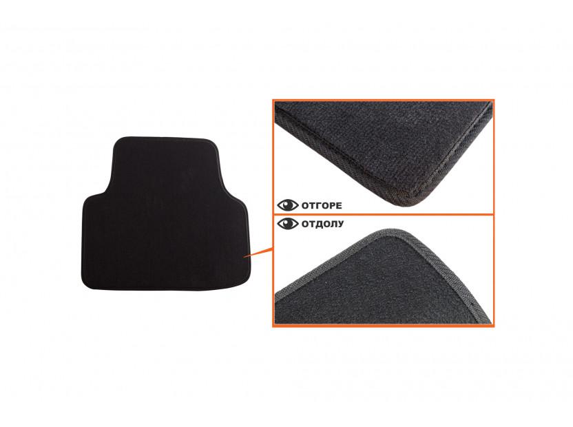 Мокетни стелки Petex съвместими с Skoda Octavia седан, комби 2013-2020, 4 части, черни, материя Style, захват B01A4 5