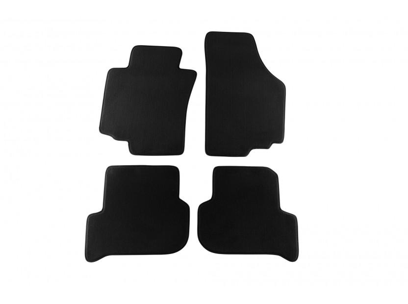 Мокетни стелки Petex за Seat Altea, Toledo 2004-2009, 4 части, черни, материя Style, захват KL01