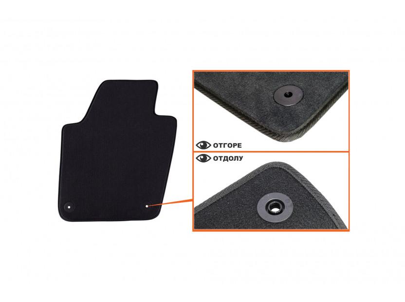 Мокетени стелки Petex за Seat Ibiza 2008 =>/Ibiza CT 06/2010 => 4 части черни (B014) Style материя 2