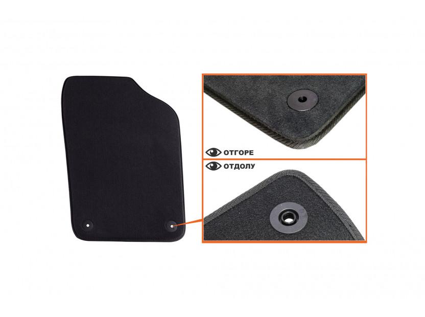 Мокетени стелки Petex за Seat Ibiza 2008 =>/Ibiza CT 06/2010 => 4 части черни (B014) Style материя 3