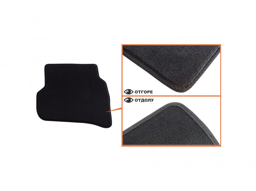 Мокетени стелки Petex за Seat Ibiza 2008 =>/Ibiza CT 06/2010 => 4 части черни (B014) Style материя 5