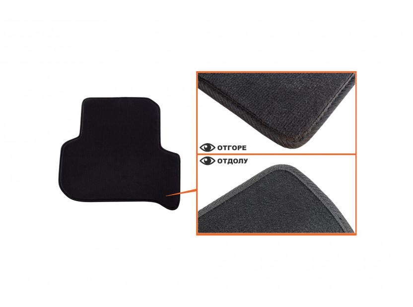 Мокетени стелки Petex за Seat Leon с кръгли щипки 09/2008-10/2012 4 части черни (B014) Style материя 4