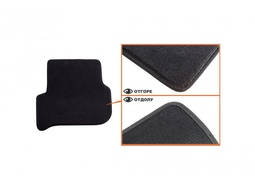 Мокетени стелки Petex за Seat Leon с кръгли щипки 09/2008-10/2012 4 части черни (B014) Style материя 5