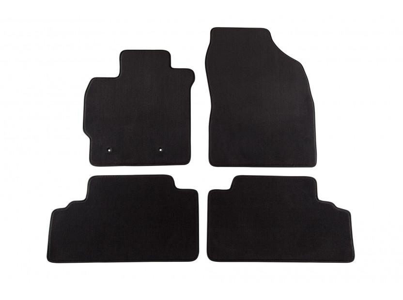 Мокетни стелки Petex съвместими с Toyota Auris 2007-2010, 4 части, черни, материя Style, захват B162