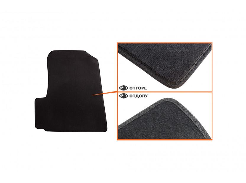 Мокетни стелки Petex съвместими с Honda CR-v 2006-2012, 3 части, черни, материя Style, захват B012U 3