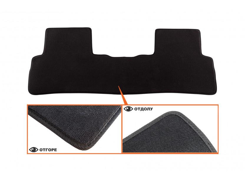 Мокетни стелки Petex съвместими с Honda CR-v 2006-2012, 3 части, черни, материя Style, захват B012U 4