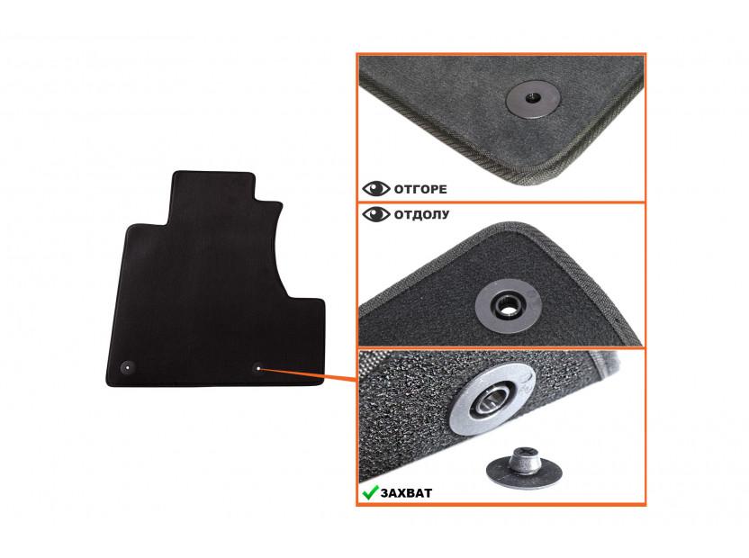 Мокетени стелки Petex за Honda CR-V 12/2006-10/2012 3 части черни (B012U) Style материя 2