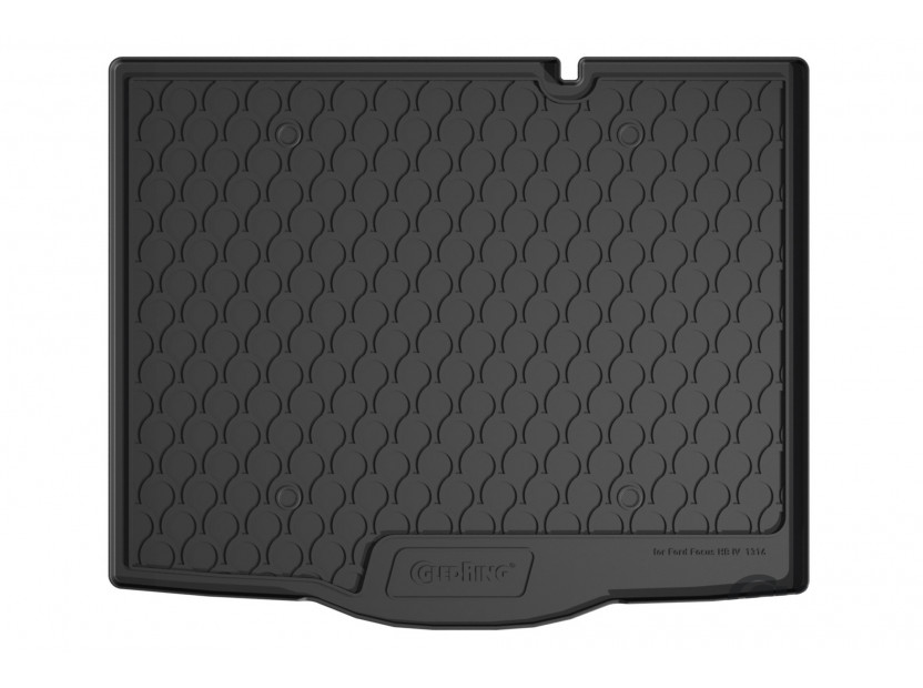 Гуменa стелкa за багажник Gledring за Ford Focus хечбек след 2018 година в горно положение на багажника и малка резервна гума