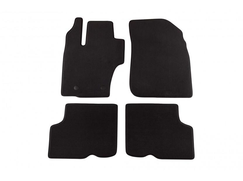 Мокетени стелки Petex за Dacia Duster 01/2014 => 4 части черни (B142) Style материя