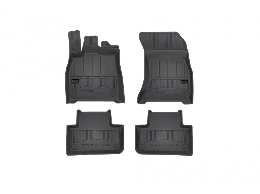 3D гумени стелки Frogum за Audi Q5 след 2017 година, 4 части, черни
