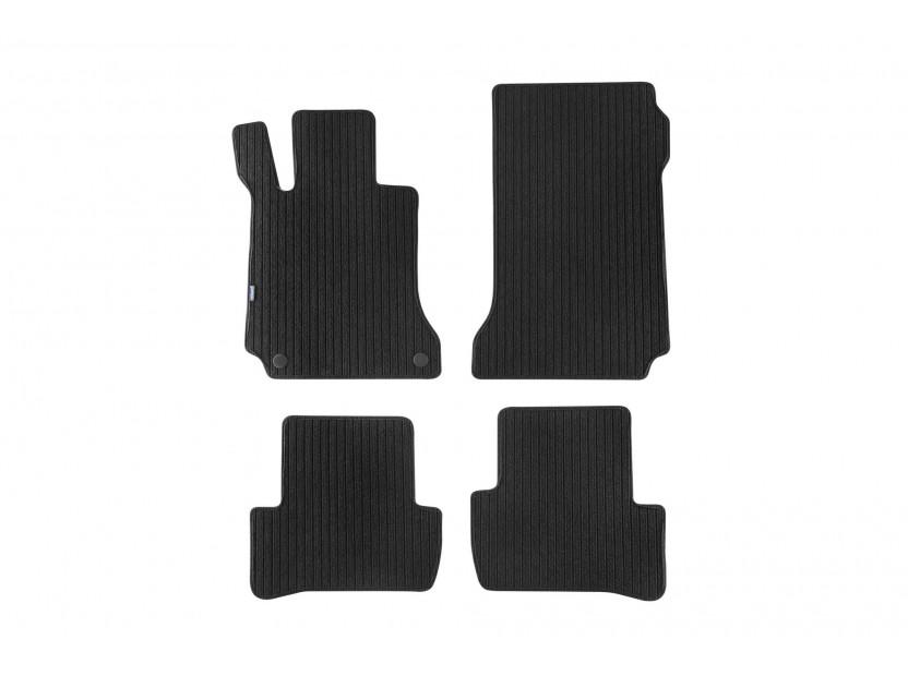 Мокетени стелки Petex за Mercedes C класа W204 03/2007-02/2014 4 части черни (B062) Remo материя