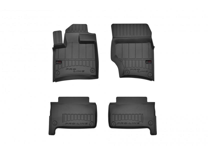 3D гумени стелки Frogum за Audi Q7 2006-2015, 4 части, черни