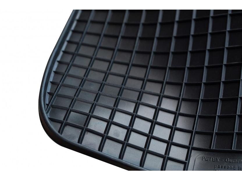 Гумени стелки Petex съвместими с Audi A3 3 врати, Sportback, S3 2003-2012, A3 кабрио 2008-2014, 4 части, черни, захват B014 6