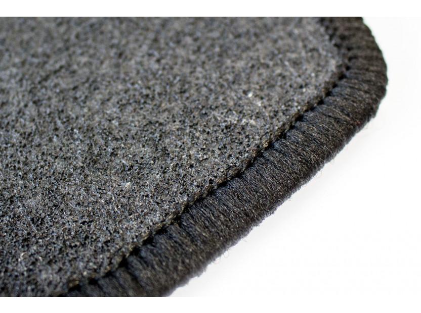 Мокетни стелки Petex съвместими с Dacia Sandero, Sandero Stepway 2008-2012, 4 части, черни, материя Rex, захват B142 4