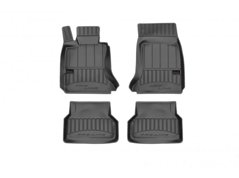 3D гумени стелки Frogum за BMW серия 5 E60/E61 2003-2010, 4 части, черни
