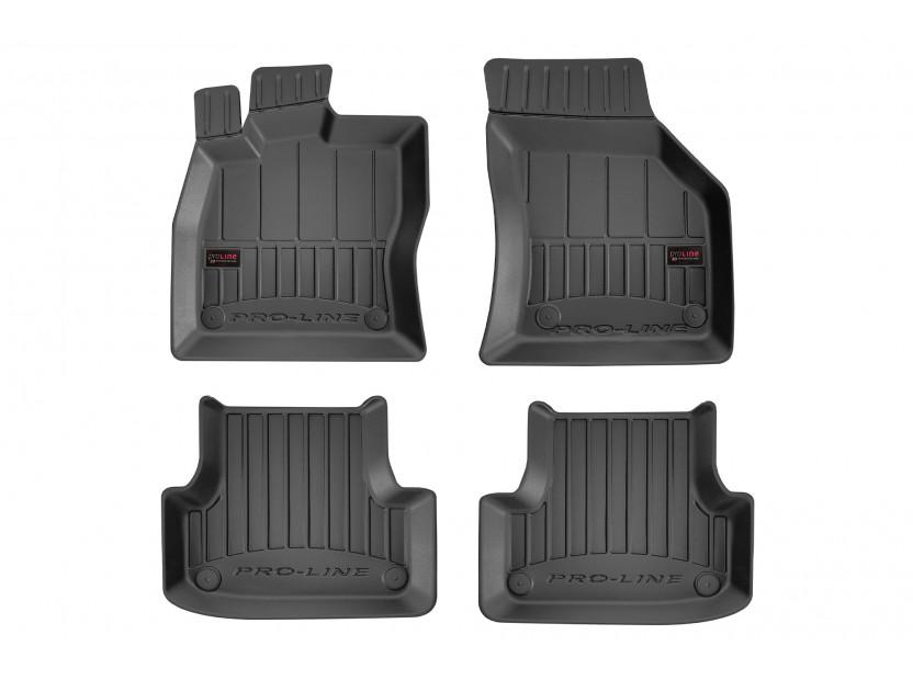 3D гумени стелки Frogum за Audi A3 след 2012 година, 4 части, черни