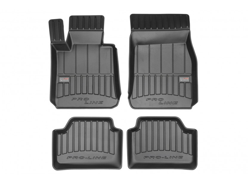 3D гумени стелки Frogum за BMW Серия 1 F20/ F21 след 2011 година, 4 части, черни