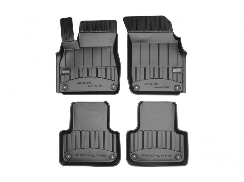 3D гумени стелки Frogum за Audi Q7 след 2017 година/Q8 след 2018 година, 4 части, черни